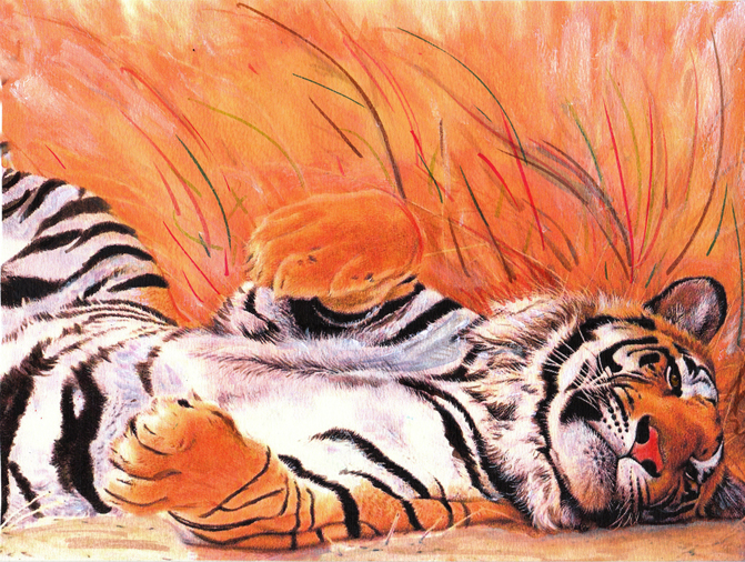 relaxing-tiger